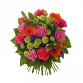 Mixed Flowers & Colors Wrapped Bouquet