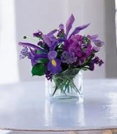 JB 9-Mixed flowers in a compact arrangement (Flowers and colors may vary)