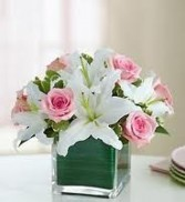 NB 10-Mixed flowers in a compact vase arrangement (Flowers and colors may vary)