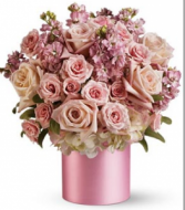 NB 9-Mixed flowers in a vase arrangement (Flowers and colors may vary)