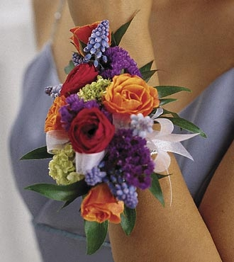 Mixed Flowers Wrist Corsage
