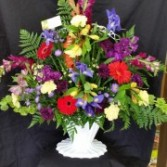 Mixed Funeral Basket Traditional Funeral Basket