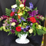Mixed Funeral Basket Traditional Funeral Basket in Union, MO | Sisterchicks Flowers and More LLC