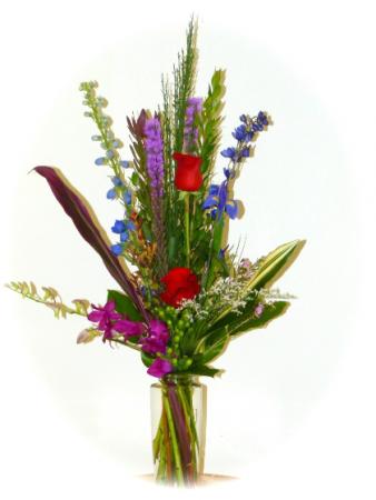 Mixed Garden Bouquet Vase