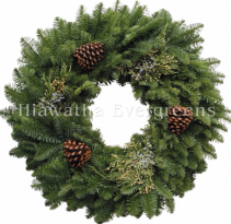 Mixed Green with Cones Wreath