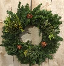 Mixed Greens Wreath Outdoor Wreath