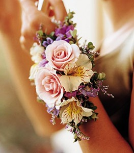MIXED PASTELS CORSAGE OR WRISTLET