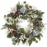 Mixed Pinecone Wreath
