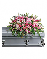 Mixed Pink Casket Spray With Roses Casket Spray