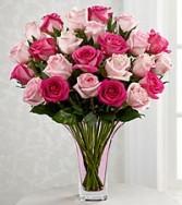 Mixed Pink Rose Bqt.