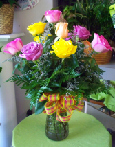 Mixed Rose Arrangement