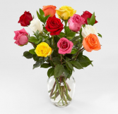 MIXED ROSES BOUQUET COLORFUL ROSES