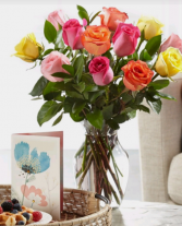 Mixed Roses vasing