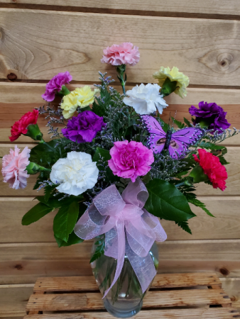 Mixed Seasonal Carnation arrangement
