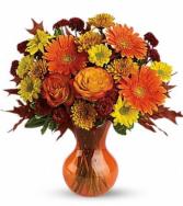 Mixed seasonal fall Fall vase