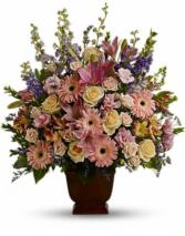 Mixed seasonal funeral arrangement  Funeral arrangement
