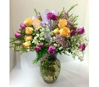 Mixed Spray Rose Vase