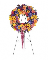 Mixed summer wreath Funeral Wreath