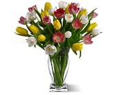 Mixed Tulip Vase