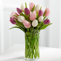 Mixed Tulips Easter Vase
