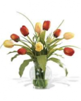 Mixed Tulips Vase Arrangement