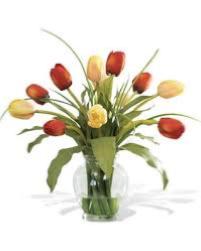 Mixed Tulips Vase Arrangement