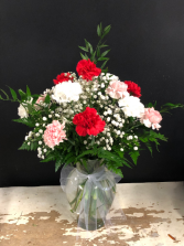 Mixed Valentines Day Carnations