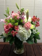 Mixed Valentines Gathering Vase Arrangement