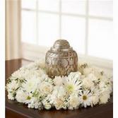Mixed White Floral  Urn Arrangement
