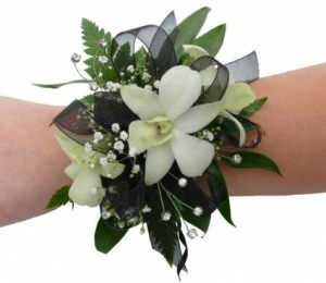 Mixed White Flower Corsage Wrist Corsage in Bend, OR | AUTRY'S 4 SEASONS FLORIST