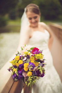 Mixed wildflower bouquet wedding bouquet