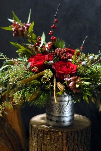 Winter  Vase Arrangement