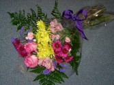 Mixed Wrap of Flowers Seasonal Flowers