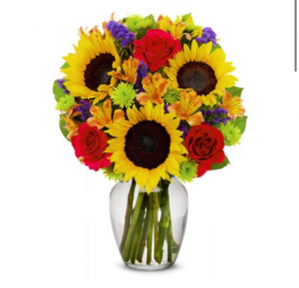 MIXTO AND SUNFLOWER ON VASE M