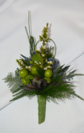 MOCHA BEAN BOUTONNIERE IN STORE PICK UP ONLY BOUTONNIERE