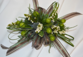 MOCHA BEAN CORSAGE IN STORE PICK UP ONLY WRIST CORSAGE