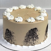 Mocha Cake Sweet Blossoms