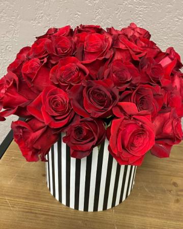 Modern 3 Dozen Roses Roses