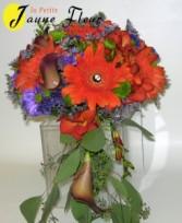 Wedding-Modern Bride Bouquet Custom Design. Please call for an appointment