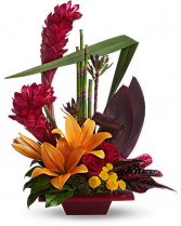Modern Burgundy Art Flower Arrangement