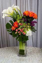 Modern Cala lilies