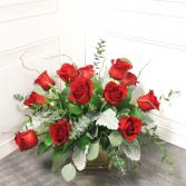 Modern Dozen Roses Bouquet