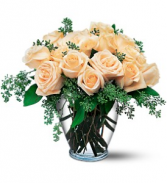 Modern Eighteen White Rose Arrangement