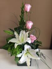 Modern Lilies & Roses