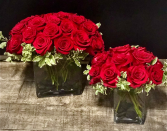Modern Love Red roses arranged