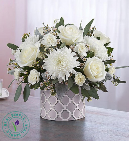 Modern Purity by Real Simple® centerpiece arrangement