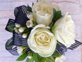 Modern Rose with Bow Corsage
