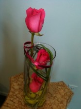 Modern Roses Cylinder Vase with Roses