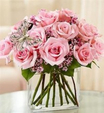 Modern Roses – One Dozen Pink roses