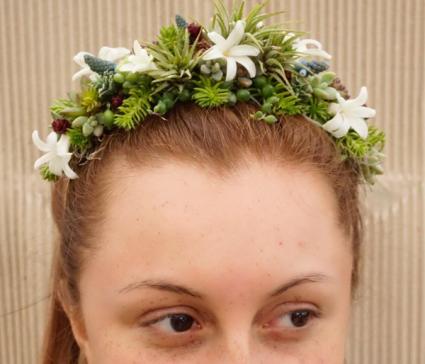 Modern Succulent Headband Hairpiece
